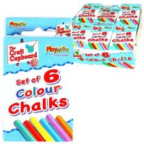 Coloured Chalk 6 Pack