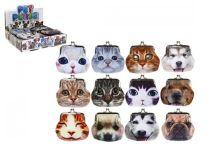 Girls Cat & Dog Clasp Purse
