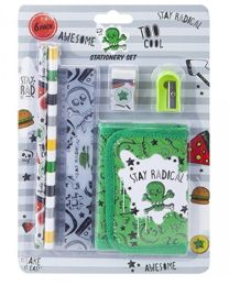 Boys Stationery Set Stay Radical 6 Piece Set back to school