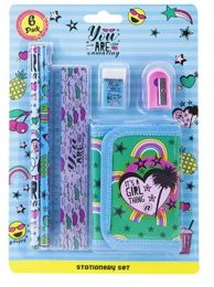Girls Stationery Set Its A Girl Thing 6 Piece Set back to school