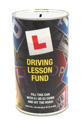 Driving Lesson Fund Savings Tin - large
