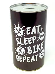 Eat Sleep Bike Repeat Savings Tin - (LRG)