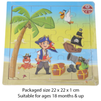 Wooden Pirate Puzzle - Wrapped Grotto Toy