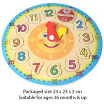 Wooden Clock Puzzle - Wrapped Grotto Toy