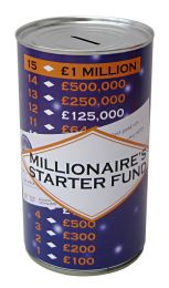 Millionaire's Starter Fund Savings Tin - (LRG)