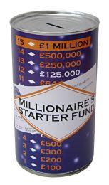 Millionaire's Starter Fund Savings Tin - (LRG)