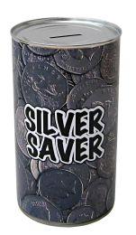 Silver Saver Cash Can Savings Tin - (LRG)