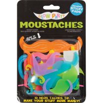 Glow Party Moustaches