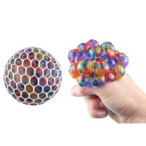 Squishy Rainbow Mesh Ball With Beads
