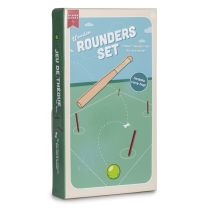 Childrens Wooden Rounders Set boxed
