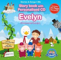 Personalised Songs & Story Book for Evelyn