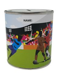 Football Money Box Tin with Removable Lid