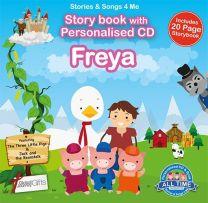 Personalised Songs & Story Book for Freya