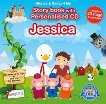 Personalised Songs & Story Book for Jessica