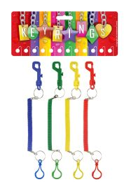 Stretchy Spiral Multipurpose Keychain with Clip