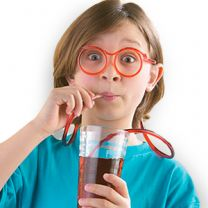 Crazy Straw Drinking Glasses