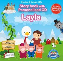 Personalised Songs & Story Book for Layla