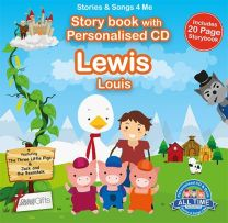 Personalised Songs & Story Book for Lewis