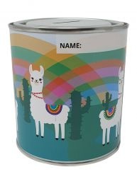LLAMA Money Box Tin with Removable Lid