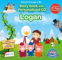 Personalised Songs & Story Book for Logan