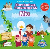 Personalised Songs & Story Book for Mia