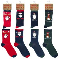 Mens Cotton Christmas Socks 7-11