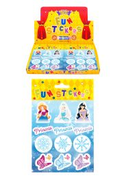 12 Ice Frozen Princess Stickers