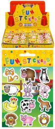 12 Farm Animal Stickers