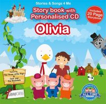 Personalised Songs & Story Book for Olivia