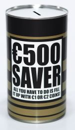 €500 Saver / Euro Savings Tin - (LRG)