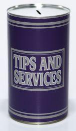 Tips & Service Cash Can Savings Tin - (LRG)