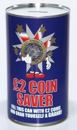 £2 Saver Fund Savings Tin - (LRG)