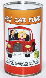 New Car Fund Savings Tin - (LRG)
