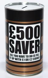 Novelty £500 saver Cash Can Money Box