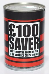£100 Savings Fund Savings Tin