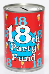 18th Birthday Party Fund Savings Tin