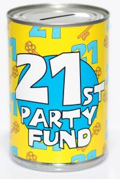 21st Birthday Party Fund Savings Tin