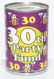 30th Birthday Party Fund Savings Tin