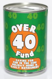 40th Birthday Party Fund Savings Tin