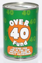 40th Birthday Party Fund Savings Tin