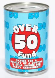 50th Birthday Party Fund Savings Tin