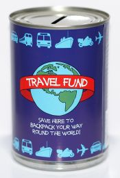 Travel Fund Savings Tin