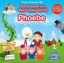 Personalised Songs & Story Book for Phoebe