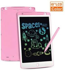WOW Tastic W93473 LCD 10 INCH Kids Learning Drawing Tablet-Pink