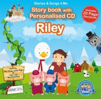 Personalised Songs & Story Book for Riley