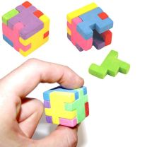 Puzzle Cube Eraser Rubbers