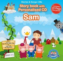 Personalised Songs & Story Book for Sam