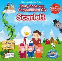 Personalised Songs & Story Book for Scarlett