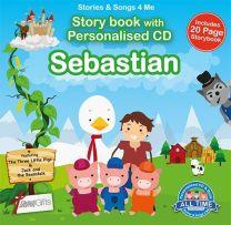 Personalised Songs & Story Book for Sebastian