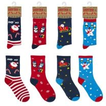 Ladies Cotton Christmas Socks 4-7